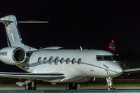 M-BADU @ LOWW - Night shot at vienna airport - by Engelbert Mauthner