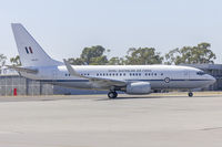 A36-001 @ YSWG - Royal Australian Air Force (A36-001) Boeing 737-7DT (BBJ) taxiing at Wagga Wagga Airport - by YSWG-photography