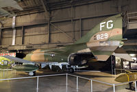"""64-0829 @ KFFO - On display at the National Museum of the U.S. Air Force.  This Phantom is painted to represent """"Scat XXVII"""", the 8th TFW aircraft in which Col. Robin Olds shot down two MiG-17s in a single day over Vietnam on May 20, 1967."""