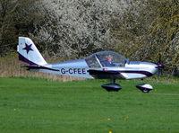 G-CFEE @ EGKR - Evektor-Aerotechnik EV-97 Eurostar at Redhill. - by moxy