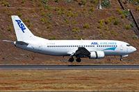 EI-STA @ LPMA - Reverse thrust ABOVE the runway