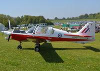 G-CBID @ EGHP - Scottish Aviation Bulldog T.1. at Popham. - by moxy