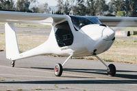N110EV @ KRHV - Locally-based Pipistrel Sinus 912 taxing to the visitors ramp at Reid Hilview Airport, San Jose, CA. - by Chris Leipelt