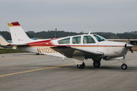 N1023W @ KHAF - 1973 Beechcraft F33A Bonanza visiting at Half Moon Bay Airport, CA. - by Chris Leipelt