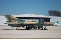 N317DM @ KRFD - MiG-21UM - by Mark Pasqualino