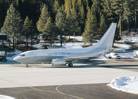 N1TS @ KTVL - 2010 Boeing 737-7JY BBJ pulling up to the ramp at South Lake Tahoe Airport, CA. - by Chris Leipelt