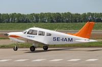 SE-IAM @ EHLE - Lelystad Airport. Probably the aircraft is sold and on its way to its new ownwer (in the UK?)
