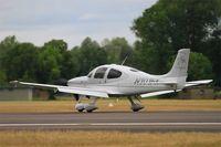 N101FK @ LFSI - Cirrus SR22 G3 GTS X Turbo, Landing rwy 29, St Dizier-Robinson Air Base 113 (LFSI) Open day 2017 - by Yves-Q