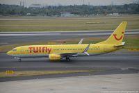 D-ATUL @ EDDL - Boeing 737-8K5(W) - X3 TUI TUIfly - 38820 - D-ATUL - 20.09.2016 - DUS - by Ralf Winter