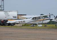 G-ELXE @ EGTF - Cessna 182T Skylane at Fairoaks. Ex D-ELXE - by moxy