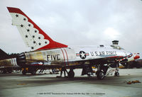 55-3754 @ ADW - T-Bird 5 at Andrews AFB May 1968. - by J.G. Handelman
