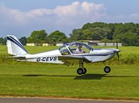 G-CEVS @ EGBR - Departing to the east - by dave marshall