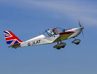 G-JLAT @ EGBR - spirited departure - by dave marshall