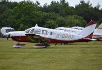 G-BRBX @ EGTB - Piper PA-28-181 Cherokee Archer II at Wycombe Air Park. Ex N8674E - by moxy