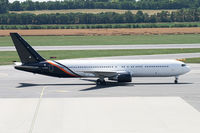 G-POWD @ VIE - Titan Airways Boeing 767-300 - by Thomas Ramgraber