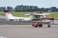 G-BIFY @ EGSH - Flying with only main wheel spats. - by Graham Reeve