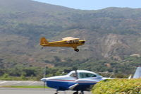 N23266 @ SZP - 1939 Piper J3C-65 CUB, Continental A&C65 65 Hp, takeoff climb Rwy 22 - by Doug Robertson