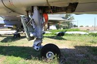 E7 - Sepecat Jaguar E, Front landing gear close up view, les amis de la 5ème escadre Museum, Orange - by Yves-Q