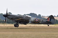 G-SPIT @ EGSU - Landing at Duxford. - by Graham Reeve