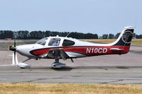 N10CD @ EGSH - Just landed at Norwich. - by Graham Reeve