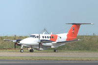 LN-TRG @ EKYT - Beechcraft Super King Air B200 of Sundt Air operated for Norwegian Coast Guard in maritime surveillance role at Aalborg airport, Denmark - by Van Propeller