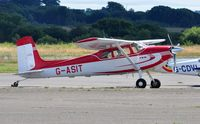 G-ASIT @ EGFH - Visiting Cessna  180. - by Roger Winser