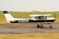 G-BZHE @ EGSH - Leaving Norwich. - by keithnewsome