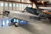 OY-KZI @ EKVJ - SAI KZ I replica in Danmarks Flymuseum at Stauning airport
