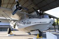 PB-501 @ WIIJ - This Catalina is displayed outdoors under a roof at Museum Pusat TNI-AU Dirgantara Mandala and carries the emblem of Skadron Udara 5, which had six of these aircraft based at Husein Sastranegara.