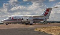 ZE700 @ EGVA - BAe 146 CC2 ZE700 32 Sqd RAF Fairford 12/7/18 - by Grahame Wills