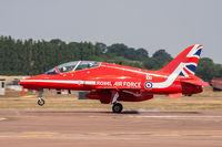 XX322 @ EGVA - Hawker Siddeley Hawk T1A XX322 Red Arrows RAF Fairford 12/7/18 - by Grahame Wills