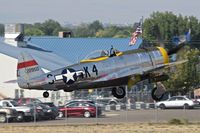 N47DM @ MAN - Take off from RWY 29. It is a P-47 Thunderbolt! - by Gerald Howard