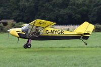 G-MYGR @ X3FT - Departing from Felthorpe.
