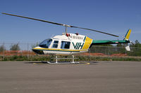 C-GNMT @ YXJ - Vancouver Island Helicopter Bell 206B JetRanger