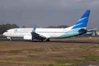 PK-GMI @ WIIJ - Taxiing out for departure.