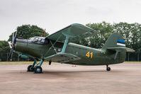 41 @ EGVA - Antonov An-2 41 1st Squadron Estonian AF, Fairford 13/7/18 - by Grahame Wills