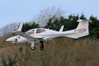 F-HCSV @ LFRB - Diamond DA-42 Twin Star, On final rwy 25L, Brest-Bretagne airport (LFRB-BES) - by Yves-Q