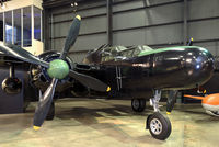 """43-8353 @ KFFO - """"Moonlight Serenade"""" on display at the National Museum of the U.S. Air Force.  This heavily armed Black Widow is painted in the markings of the 550th Night Fighter Sqn. serving in the Pacific in 1945."""
