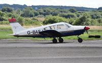 G-BASJ @ EGFH - Visiting Piper Cherokee operated by the Bristol Aero Clib.r