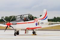 056 @ LFSI - Pilatus PC-9M, Croatian Air Force aerobatic team, Flight line, St Dizier-Robinson Air Base 113 (LFSI) Open day 2017 - by Yves-Q