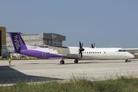 G-JECP @ LMML - Dehavilland DHC-8 G-JECP just painted in the new Flybe colour scheme.