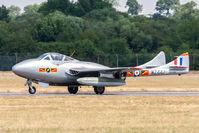 LN-DHZ @ EGVA - De Havilland Vampire T55 WZ447 (LN-DHZ) Norwegian AF Historical Sqd, Fairford 14/7/18 - by Grahame Wills