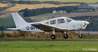 G-BPKM @ EGPN - Landing roll at Dundee - by Clive Pattle