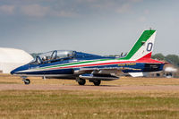 MM54534 @ EGVA - MB339PAN MM54534/0 Frecce Tricolori Italian AF, Fairford 15/7/18 - by Grahame Wills