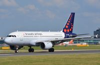 OO-SSL @ EGCC - Brussels A319 starting its take-off run - by FerryPNL