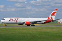 C-GEOQ @ EGCC - Air Canada Rouge B763 departing - by FerryPNL