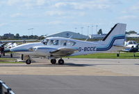 G-BCCE @ EGKA - Piper PA-23-250 Aztec at Shoreham. Ex N40544 - by moxy