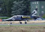 ES-YLI @ EBBL - Aero L-39 Albatros, No 2 of Breitling Jet Team at the 2018 BAFD spotters day, Kleine Brogel airbase