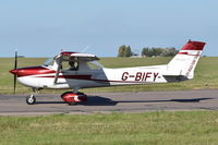 G-BIFY @ EGSH - Just landed at Norwich. - by Graham Reeve