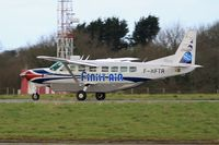 F-HFTR @ LFRB - Cessna 208B Grand Caravan, Take off run rwy 25L, Brest-Guipavas Airport (LFRB-BES) - by Yves-Q